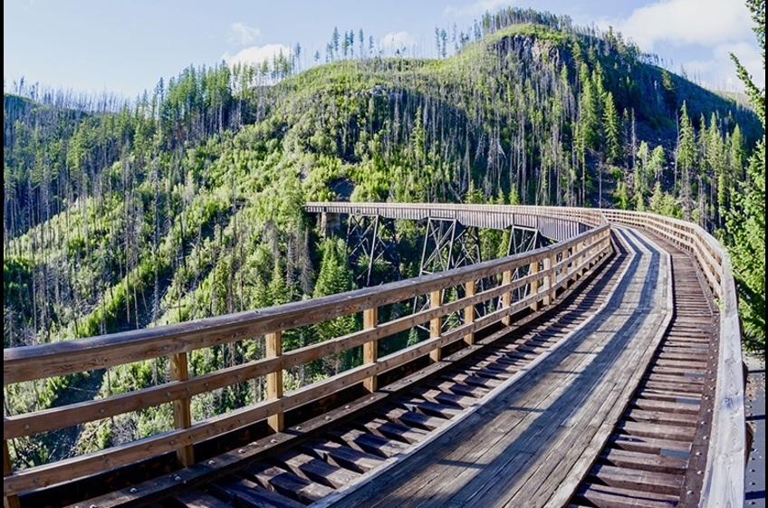 Spring, summer or fall go for a bike ride at Myra Canyon Trestles, a national heritage site.